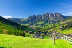 Il villaggio di Inneralpbach in valle di Alpbach, Austria Fotografie Stock