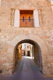 Il villaggio di Jerica Castellon incurva in Alto Palancia della Spagna Fotografia Stock Libera da Diritti