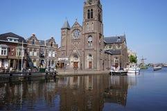 Il villaggio di Leidschendam nei Paesi Bassi Fotografia Stock