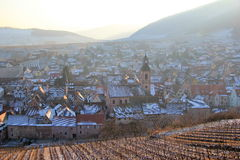 Il villaggio di Riquewihr nell'Alsazia Immagini Stock
