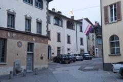 Il villaggio di Sonvico sulla zona italiana della Svizzera Fotografia Stock