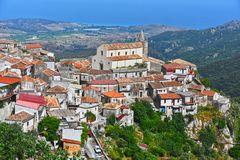 Il villaggio di Staiti nella provincia di Reggio Calabria, Italia Fotografia Stock Libera da Diritti