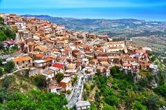 Il villaggio di Staiti nella provincia di Reggio Calabria, Italia fotografia stock