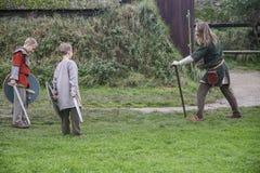 Il villaggio di Viking immagine stock