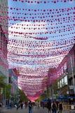 Il villaggio gay di Montreal Fotografia Stock Libera da Diritti