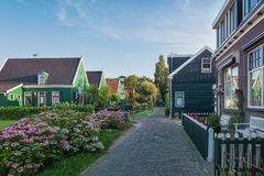 Il villaggio Haaldersbroek vicino a Zaandam, Paesi Bassi Fotografia Stock Libera da Diritti