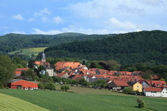 Il villaggio Herleshausen Immagine Stock
