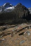 Il villaggio in Himalaya Fotografie Stock Libere da Diritti