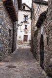 Il villaggio medievale di Torla in pyrinees della Spagna dell'Aragona Fotografia Stock