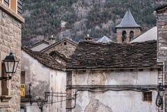 Il villaggio medievale di Torla in pyrinees della Spagna dell'Aragona Immagini Stock Libere da Diritti