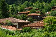 Il villaggio nei Balcani fotografie stock
