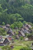 Il villaggio storico di Shirakawa-va, il Giappone Immagine Stock Libera da Diritti