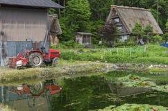 Il villaggio storico di Shirakawa-va, il Giappone Immagini Stock