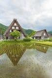 Il villaggio storico di Shirakawa-va nel Giappone Fotografie Stock Libere da Diritti