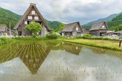 Il villaggio storico di Shirakawa-va nel Giappone Immagini Stock