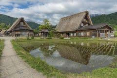 Il villaggio storico di Shirakawa-va nel Giappone Fotografia Stock