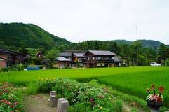 Il villaggio storico di Shirakawa-va, prefettura di Gifu Fotografia Stock Libera da Diritti