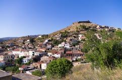 Il villaggio storico di Volissos, nell'isola di Chio, la Grecia Fotografia Stock