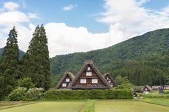 Il villaggio storico Shirakawa-va, il Giappone Immagine Stock Libera da Diritti