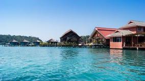 Il villaggio su acqua Fotografia Stock
