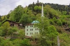 Il villaggio tradizionale alloggia il savsat di Artvin Immagine Stock Libera da Diritti