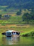 Il villaggio vicino al lago Toba Fotografia Stock