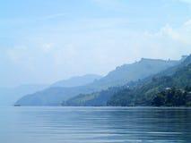 Il villaggio vicino al lago Toba Immagine Stock