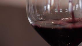 Il vino è versato in un vetro archivi video
