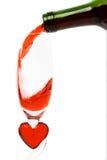 Il vino rosso di versamento Fotografia Stock Libera da Diritti
