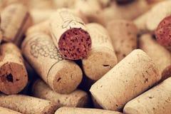 Il vino tappa gli ambiti di provenienza Fotografia Stock Libera da Diritti