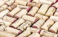 Il vino tappa i produttori famosi Massandra, castello, Inkerman del vino Fotografie Stock Libere da Diritti