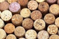 Il vino tappa il primo piano, uno dei sugheri del vino con la data Fotografia Stock Libera da Diritti