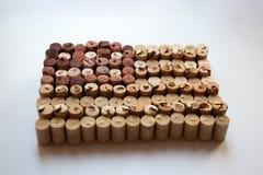 Il vino tappa la bandiera di U.S.A. immagini stock libere da diritti