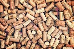 Il vino tappa la priorità bassa Fotografia Stock Libera da Diritti