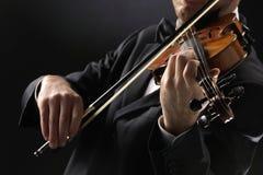 Il violinista Fotografie Stock Libere da Diritti