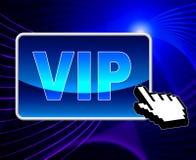 Il VIP online significa il World Wide Web ed importante Fotografie Stock Libere da Diritti