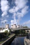 Il vista della centrale elettrica Fotografia Stock