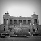 Il Vittoriano Roma Italy Black & White royalty free stock image