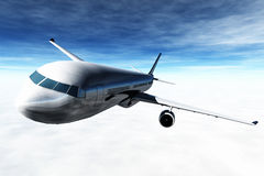 Il volo 3D dell'aeroplano rende Immagini Stock Libere da Diritti