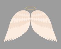 Il volo animale di libertà dell'uccello del pignone della piuma di angelo delle ali e la pace naturale di vita del falco progetta Immagini Stock