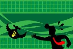 Il volo dei soldi via Fotografie Stock Libere da Diritti