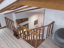 Il volo delle scale alla palestra Fotografia Stock