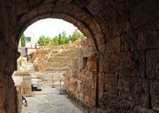 Il vomitory di Roman Theatre e del Alcazaba, Malaga, Andalusia, Spagna Fotografia Stock Libera da Diritti