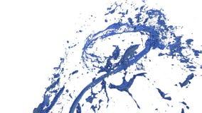 Il vortice di liquido blu gradisce la pittura dell'automobile su fondo bianco La bella pittura colorata sta girandosi Trasparente royalty illustrazione gratis