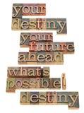 Il vostro concetto di futuro e di destino Fotografia Stock Libera da Diritti