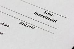 Il vostro investimento Fotografia Stock Libera da Diritti