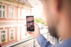 Il vostro mobile dice tutti circa voi Fotografie Stock