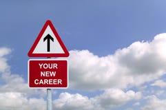 Il vostro nuovo Signpost di carriera Immagine Stock