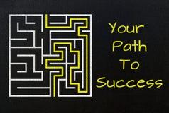 Il vostro percorso al concetto di successo Fotografia Stock