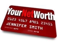 Il vostro valore di valutazione di debito della carta di credito di valore netto Fotografia Stock